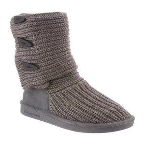 BEARPAW Knit Tall Cozy Boots Gray II